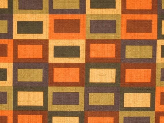 Contemporary Orange Fabric, Designer Fabric, Fabric by the Yard