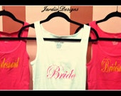 one day sale Bride, Bridesmaid, maid of honor tank top