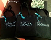 Bridesmaid Tote Bag personalized with names