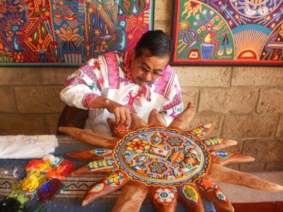 Shine. 8 x 10 photograph. Bead work. Mexico.
