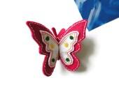 Felt brooch-brooch felt-felt pin-felt butterfly brooch-butterfly brooch-animals brooch-felt jewelry-felt accessories-pink butterfly brooch