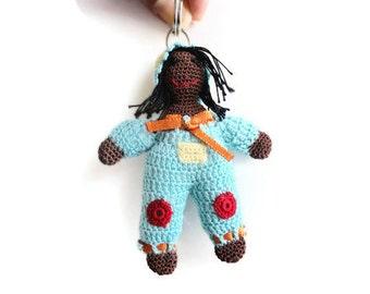 women's keychain-key ring-women's accessories-women's gifts-crochet accessories-crochet keychain-birthday gifts-doll keychain