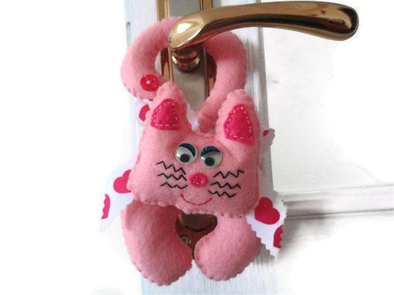 Door decoration-Door ornament-felt ornaments-car decoration-felt accessories-cat decoration-door knob hanger-holiday home decor-felt cat