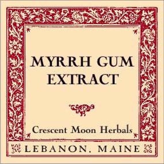 MYRRH GUM (Commiphora Molmol) EXTRACT, 2, 4, 8 oz, Maine Made