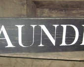 LAUNDRY Room Wooden sign, Home Decor, Distressed and Rustic