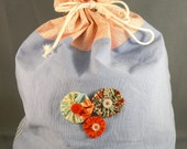English Garden Collection Project Bag for your knit project