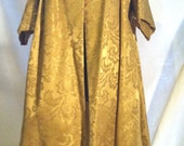 Hand Made Opulent, Vintage 50s Style Gold Brocade Swing Coat Small to Extra Large Size
