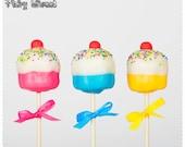 Birthday Cupcake Cake Pops - By Fairy Sweet