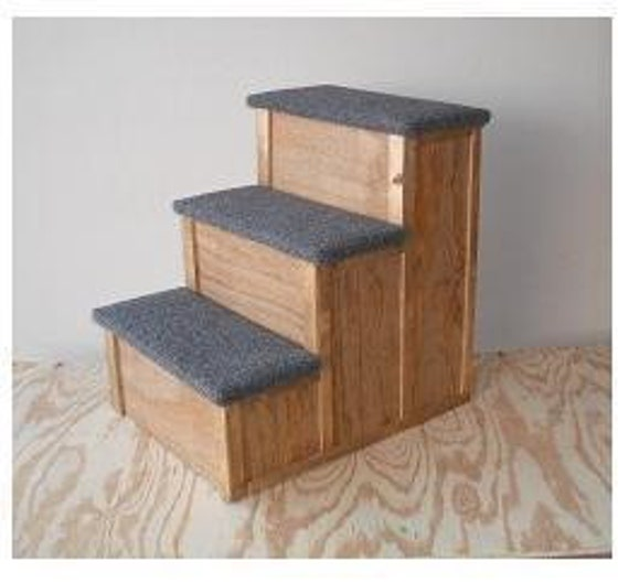 24 inch tall Wood Dog Cat Pet 3 Step Stairs