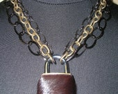 Lock-IT  Chain Necklace, Calf Hair - 20% off