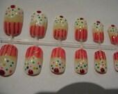 Cupcake Muffin False Nails Art Set Kitsch