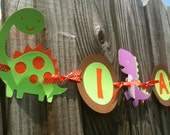 Dinosaur Banner - Dinosaur Birthday Party - Dinosaur Baby Shower - Baby Announcement