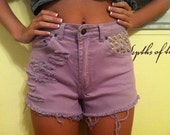 Purple Vintage High Waisted Shorts- free shipping