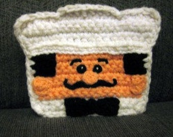 Chef Valicimo Napkin Holder Cover crochet pattern