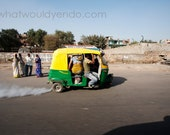 Travel photography. Auto rickshaw in India.