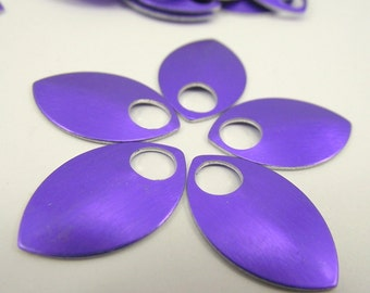 50 Small Purple Anodized Aluminum Scales, Chainmail, Scalemail