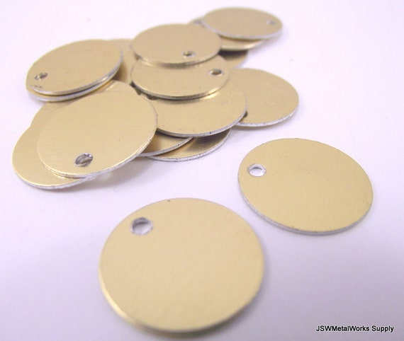 Inch gold anodized aluminum tags medium blank