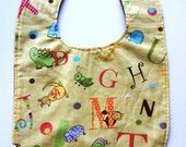 Toddler Bib - Alphabet With Animals & Critters