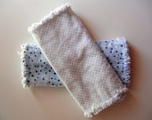 Baby Rag Quilt Burp Cloths Polka Dot Blue & White