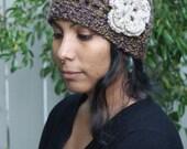 Crochet Flower Cloche
