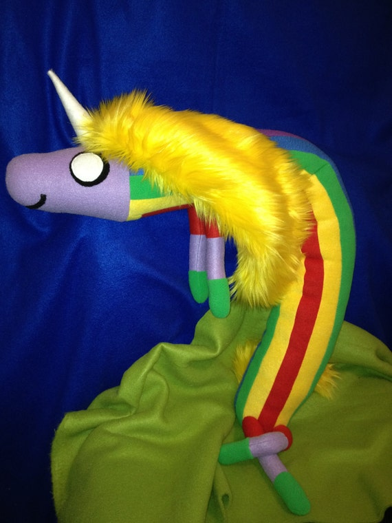 Inspired by  Lady Rainicorn from Adventure Time  - giant sized plush