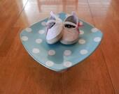 Blue Pastel Polka Dot Cake Plate / Stand