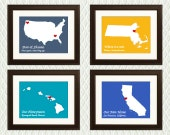Personalized WEDDING GIFT or Wedding Decor for the couple - Maps with Hearts. For any special occasion such as an engagement anniversary