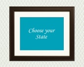 Choose Your State - Heart on any city - Christmas, engagement, wedding, anniversary, birthday, adoption -