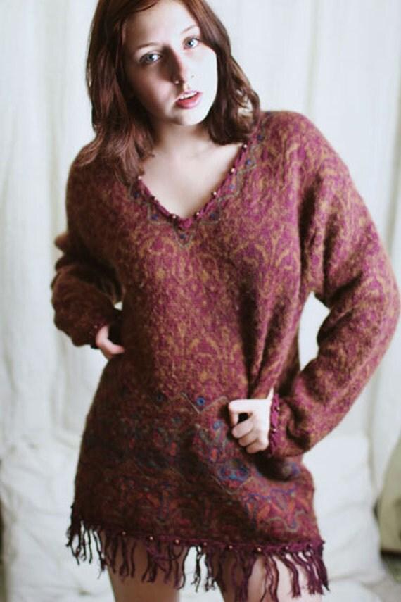 Beaded Sweater Dress