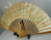 Antique Handpainted Fan Tells a Story FREE SHIPPING USA