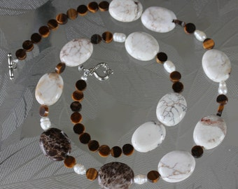 Jasper and tiger eye necklace.
