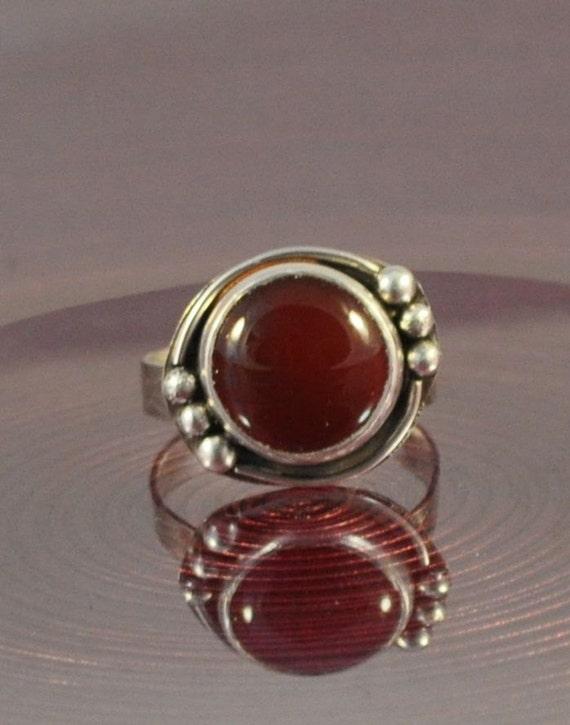 Round garnet ring choose your size