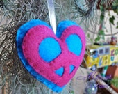 Peace Love Ornament, pink & blue by Peace Love Pakalolo