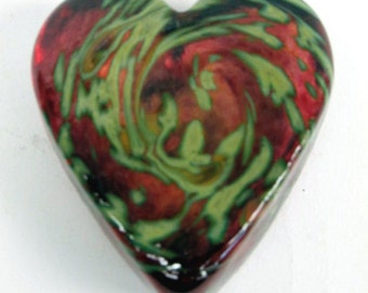 Ruby Swirled Heart