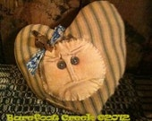 Primitive Doll Face Pillow made from Vintage Mattress Ticking TMAP AB4B TBCPrims