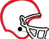 Applique Football Helmet Embroidery Design
