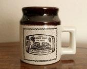 Vintage Beauce Abenakis Ye Olde Canadian Crock Prints Mug