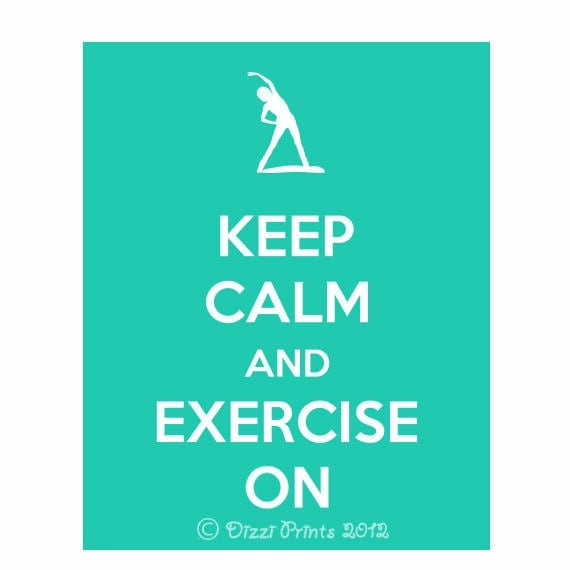 Items similar to keep calm poster keep calm and exercise for Keep calm immagini