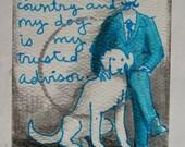 Canine Adviser Original Ink Drawing