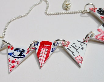 Typically British Bunting Necklace