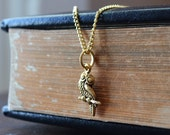 Gold Athenian Owl Necklace