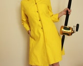 1960s Mod yellow jacket. Vintage spring jacket. Rain Coat. Elva and Andy's Mansion House