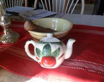 Vintage Ceramic Teapot Wall Pocket