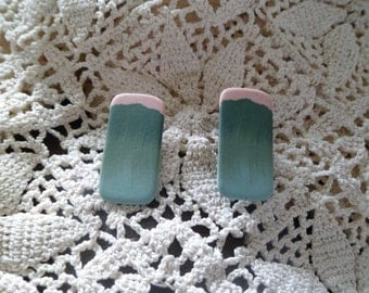 1970s Handcrafted Vintage Clay Earrings
