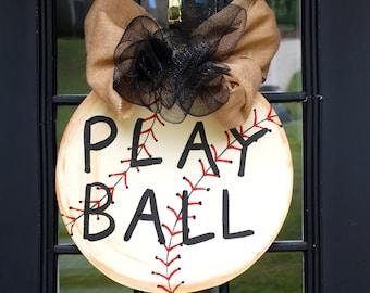 Door Hanger: Baseball, Baseball Wall Decor, Sports Decor