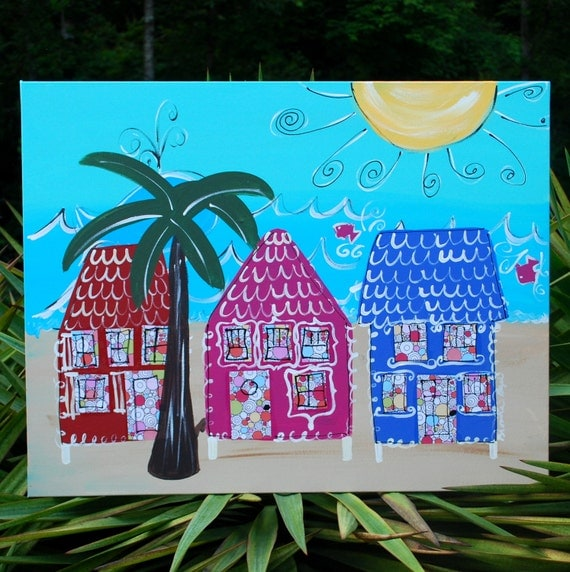Beach House Decor Items: Items Similar To Beach Painting, Beach House Decor