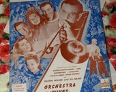 Vintage 1942 I've Got A Gal in Kalamazoo Orchestra Wives Sheet Music Glenn Miller Cover Art