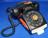 Working 1964 Bell System, Western Electric Model C/D 500 Dial Telephone. G1 Handset with Advertising 1960s Mid Century!