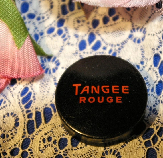 Vintage Tangee Rouge Makeup Tin Compact The George W Luft Company NY Red-Red