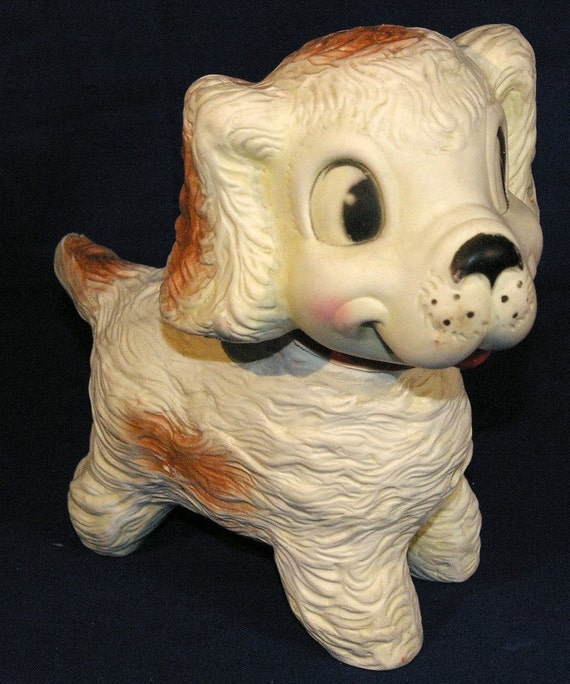 Vintage Rubber Squeaky Dog Toy by Edward Mobley Co 1958